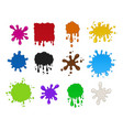 blots set volume colorful isolated vector image vector image