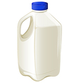 Bottle of milk vector image