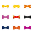 bow tie icon set flat style vector image
