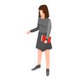 businesswoman icon isometric style vector image