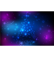 christmas glowing background vector image
