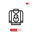 christmas sweater icon vector image vector image