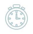 chronometer uncolored design vector image
