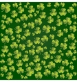 Clover leaves pattern background for St vector image vector image