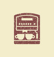 coffee machine with cups vector image vector image