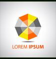company logo design element abstract hexagon vector image