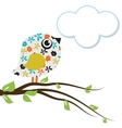 Cute beautiful bird for your design watercolor vector image vector image