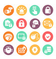 data information protection web security icons vector image vector image