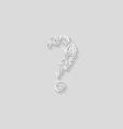 Decorated question mark vector image