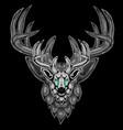 deer with horns vector image vector image