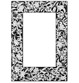 Fairy-tale flower frame Retro vintage gothic style vector image vector image