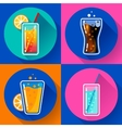 Flat Drink icons for web and applications vector image vector image