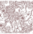 Floral hand drawn seamless pattern background vector image vector image