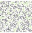 floral saemless pattern violet green vector image vector image