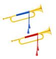 golden royal horn trumpet vector image