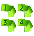Green icon with arrow and numerals vector image vector image