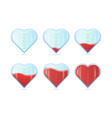 heart rating love meter or gauge icon for vector image vector image