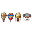 hot air balloons retro flying airships vector image vector image