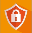 icon insurance security design vector image vector image