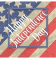Independence day typographic element vector image vector image