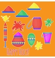 Indian Holi traditional festival of colours vector image vector image