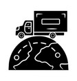 international delivery glyph icon goods import vector image vector image