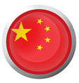 isolated flag of china vector image vector image