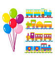 kids train cartoon toy with colorful vector image