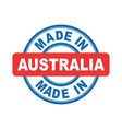 made in australia emblem flat vector image