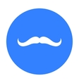 Man s mustache icon in black style isolated on vector image