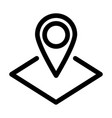 map pointer or pin marker icon outline modern vector image vector image