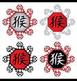 monkey mascot frame design stamps vector image vector image