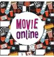 movie online vector image vector image