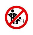 no child labour icon stop child labour vector image