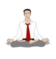 Office yoga vector image vector image