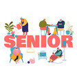 old people hoband leisure fun concept male and vector image