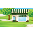 Park Builing vector image vector image