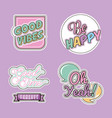 patches fashion image vector image vector image