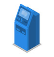 payment machine icon isometric style vector image vector image