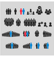 people icon set persons symbol for your vector image