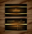 premium luxury business card design vector image vector image