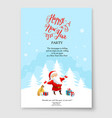 santa claus winter design vector image vector image