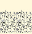 seamless floral border herbs and wild vector image