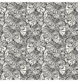 seamless monochrome pattern with abstract flowers vector image vector image