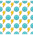 seamless pattern with snowflake and lightning vector image