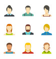 self identification icons set flat style vector image vector image