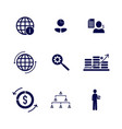 set business finance icon logo concept vector image