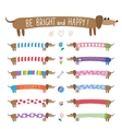 set cute dachshunds vector image