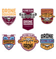 set of emblems with drone vector image vector image