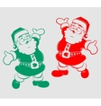 silhouette funny Santa Claus vector image vector image